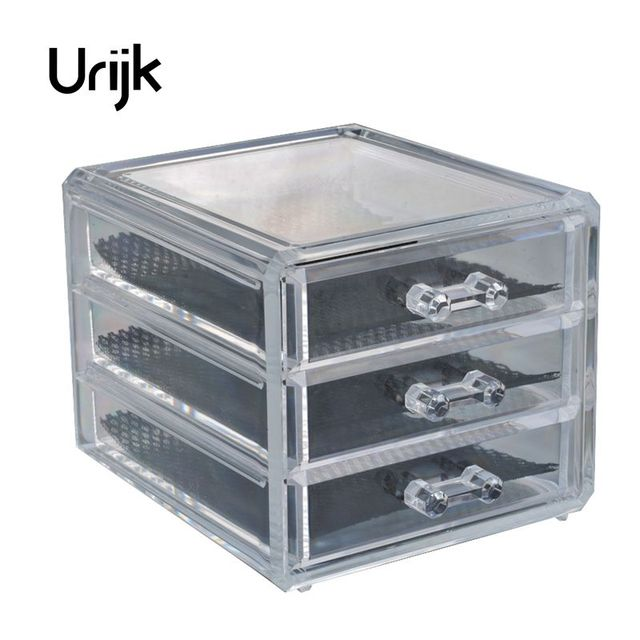 Urijk 3 Layers Transparent Acrylic Storage Drawer Makeup Organizer