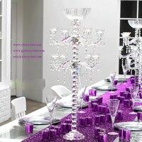 Хрустальные канделябры из многих K9 хрустальные шары для свадьбы центральным, Folwer стенд для свадебного декора, свадебный стол цветок.