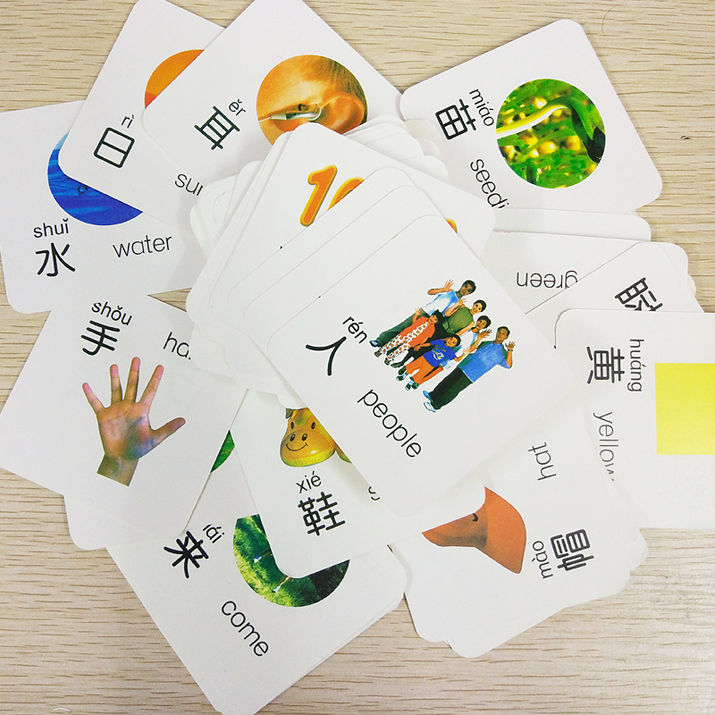 English & Chinese Kids Book Characters Cards Learn Chinese 108 word with Pinyin books for Kids children/color/art books libro
