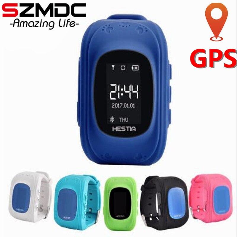 Szmdc CALDA Q50 Astuto della vigilanza Del Capretto Dei Bambini Orologio Da Polso GSM GPRS Localizzatore GPS Tracker Guardia Bambino Anti-Perso Smartwatch per iOS Android