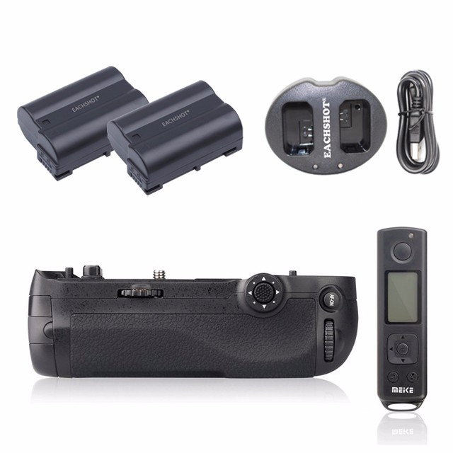 Meike MK-D500 Pro 2.4G Hz Remote Control Shooting for Nikon D500 Camera Replacement of MB-D17 + 2PCS EN-EL15 Battery + Charger meike mk d500 pro vertical battery grip built in 2 4ghz fsk remote control shooting for nikon d500 camera as mb d17