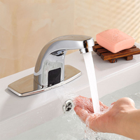 Home Use Tap Sensor Faucet Automatic Saving Water Bathroom Stainless Steel Basin For Kitchen Smart Hands Free Electric