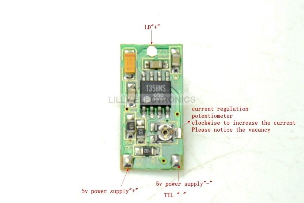 635nm 650nm 808nm 980nm TTL Laser Diode Driver Board 5V Supply Supply 50-300mA