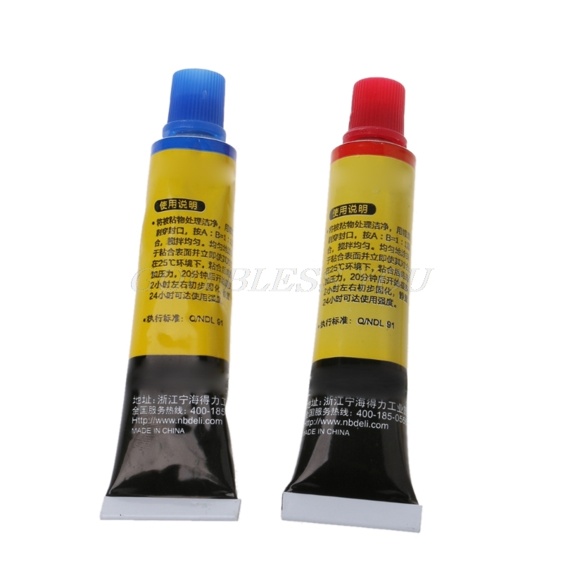 2PCS Epoxy Resin AB Glue All Purpose Adhesive Super Glue For Glass Metal Ceramic Drop Shipping 3