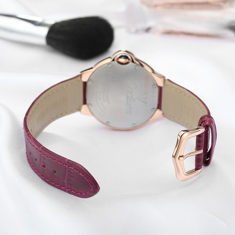 CADISEN Top luksusa zīmolu sievietes pulkstenis kvarca pulkstenis - Sieviešu pulksteņi - Foto 5