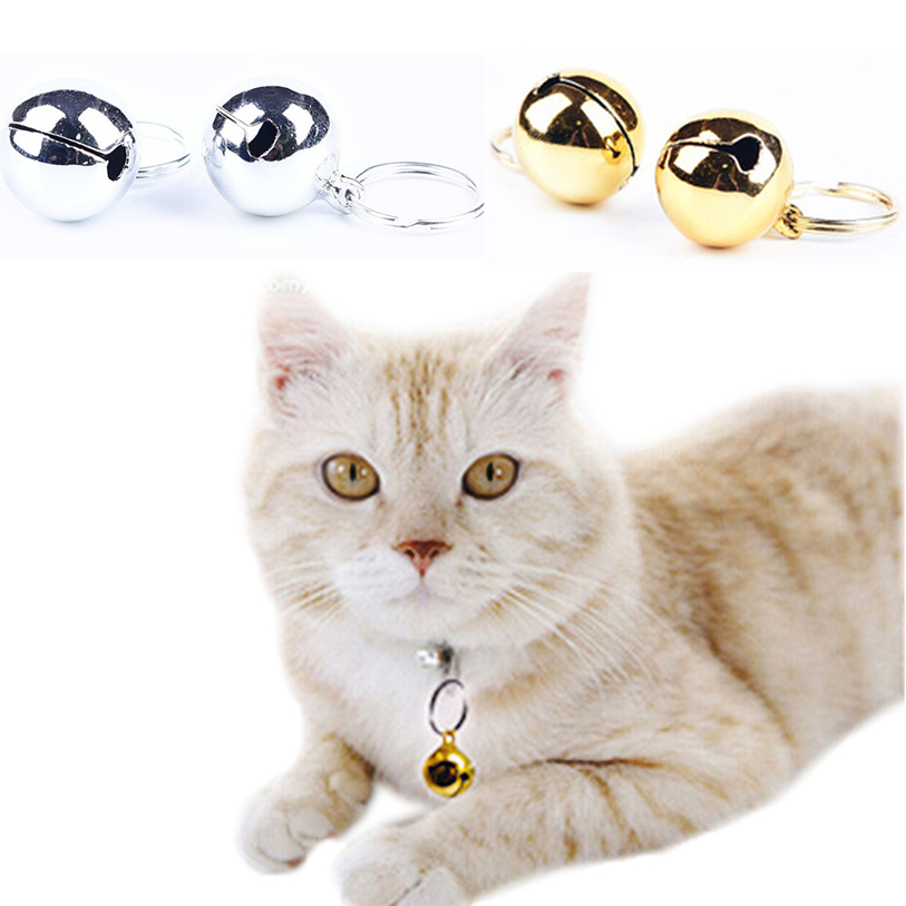 Dog Cat Pet Bell Pendant Puppy Suit Collar Decor Stainless Steel Gold Silver Glitter Cats Products For Pet Harness Belt noJA1