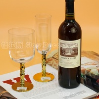 christmas The champagne glass red wine goblet gold silver plating rod decorative glass goblet ornaments