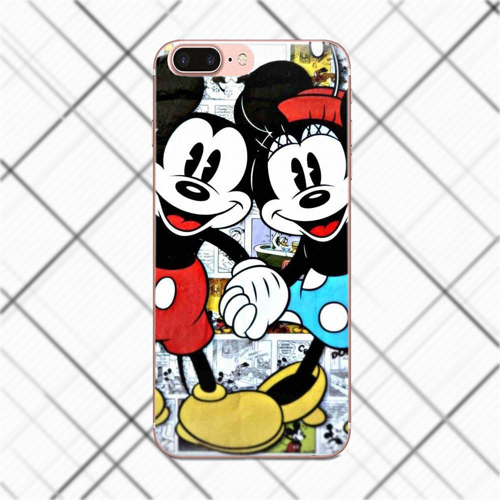 Tpwxnx For LG G2 G3 mini spirit G4 G5 G6 K4 K7 K8 K10 2017 V10 V20 V30 Soft Shell Phone Case Cute Couple Mickey Minnie Mouse