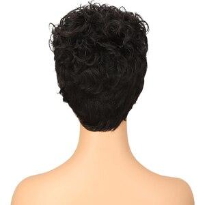 Image 4 - 洗練されたブラジル生意気カール黒人女性のための人間のかつら色かつら