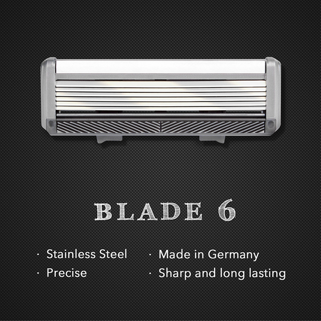 Qshave Black Spider Manual Man Shave Razor with Trimmer Can Design Your Name on it (1 Handle, 1pc X6 Blade & 1pc X5 Blade) 3