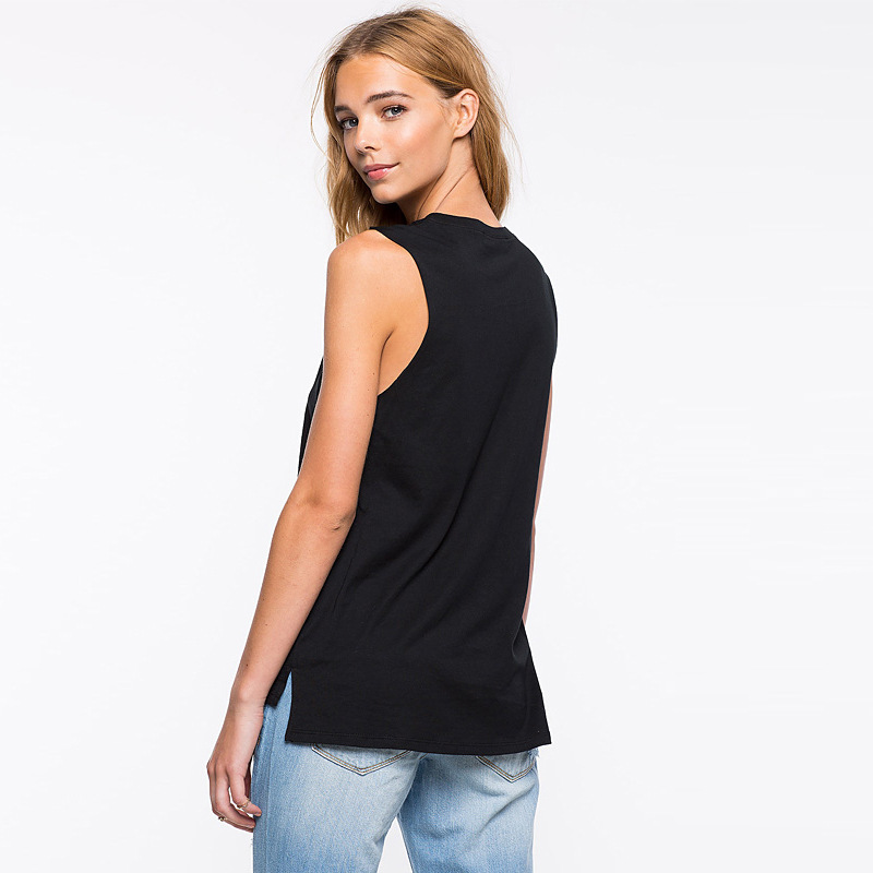 ZOGAA Summer O Neck Women Tank Tops Feather Print Sexy Sleeveless Slim Ladies Vest Casual Fashion Black Streetwear Tank Top Tee in Tank Tops from Women 39 s Clothing