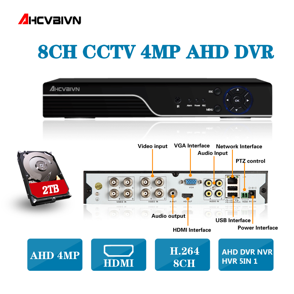 Security CCTV DVR 8CH AHD 5MP 4MP 3MP 1080P 5 IN 1 DVR H.264 Hybrid Video Recorder for AHD TVI CVI Analog IP Camera Onvif IP 5MP smar mini hybrid 4ch 8ch ahdnh 1080n ahd dvr 5 in 1 ahd cvi tvi cvbs 1080p security dvr nvr for ahdm ahd camera 5mp ip camera