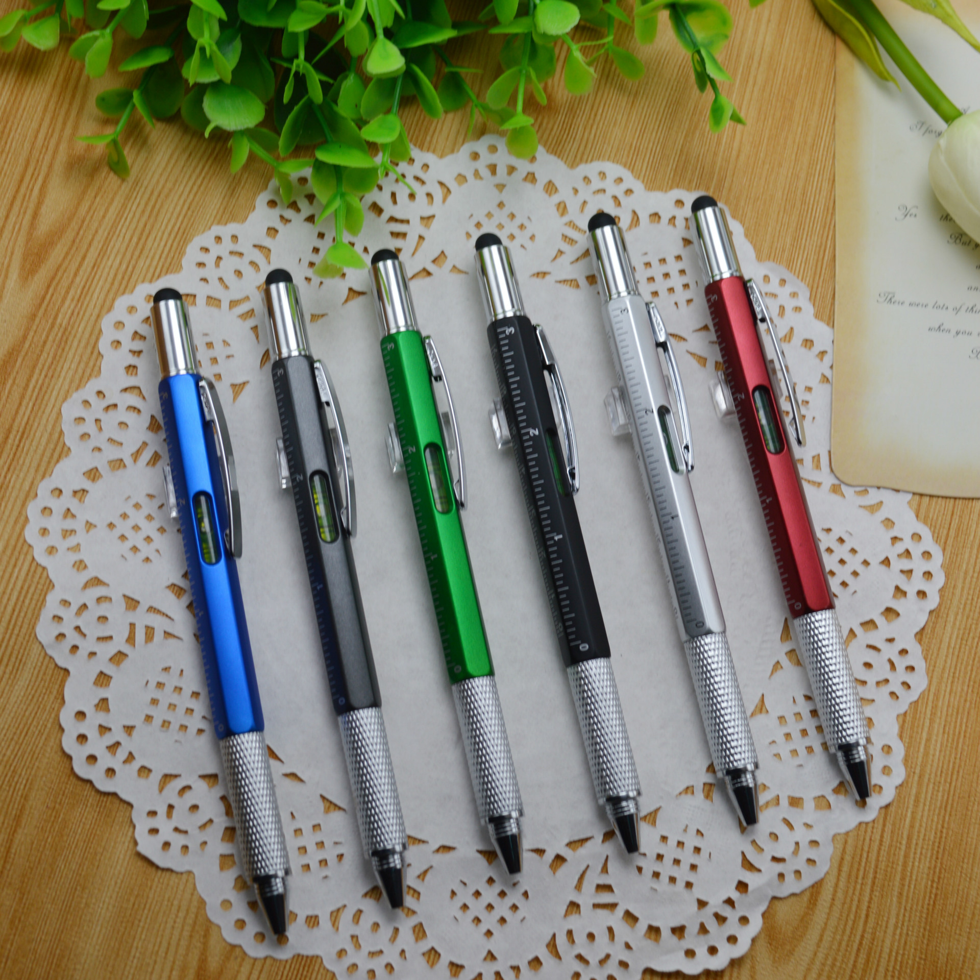 100pcs/set Multifunctional Screwdriver,ball Pen Caliper Pen Plastic Tool Pen Instrument, Touch Control Tool Screwdriver Pen free people блузка page 8