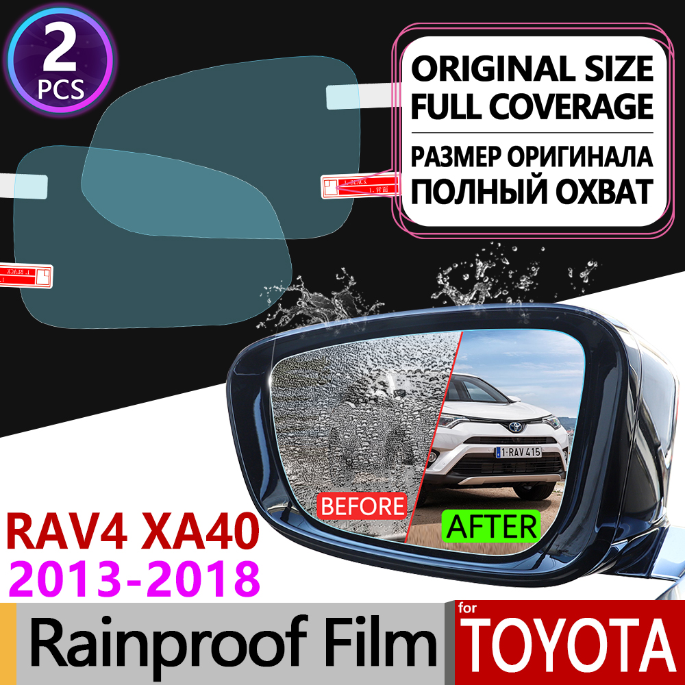 For Toyota Rav4 XA40 2013 - 2018 RAV 4 40 Full Cover Anti Fog Film Rearview Mirror Rainproof Anti-Fog Films Clean Accessories(China)