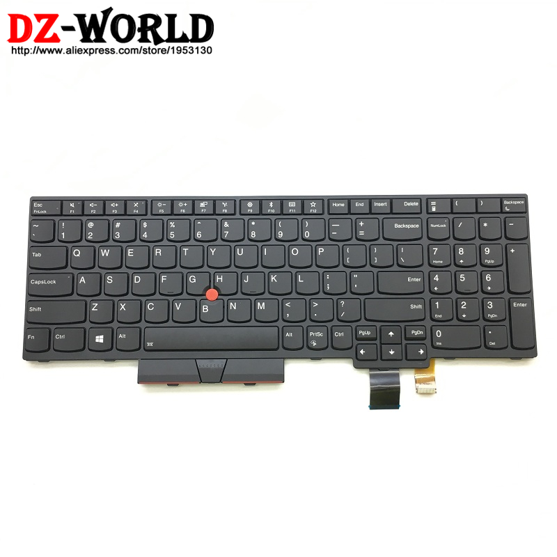 New Original for Lenovo Thinkpad T570 P51S T580 P52S US English Keyboard Backlit Backlight Teclado 01ER582 01ER541 SN20M07934 gzeele new us laptop keyboard for lenovo for ibm thinkpad edge e530 e530c e535 e545 04y0301 0c01700 v132020as3 without backlight