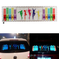 Car Flashing 1Pcs Music Rhythm EQ Sticker Music Equalizer on Car Windshield LED Sound Activated EL Sheet Glue Stickers 90*25 cm