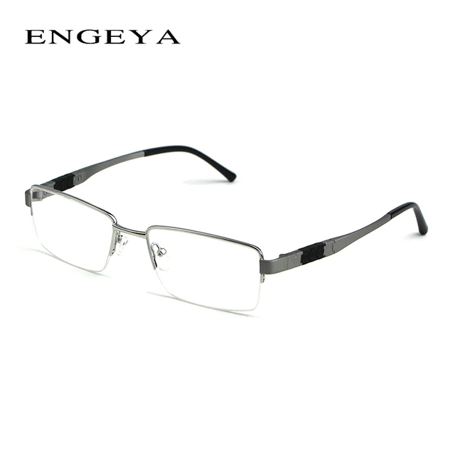 2016 ENGEYA Vintage Half Titanium Alloy Spectacle Frame, Retro Optical Clear Lens Eye Glasses Frames For Men High Quality #165#