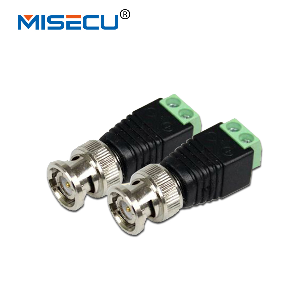 CCTV Coax CAT5 To Camera CCTV BNC UTP Video Balun Connector Adapter BNC Plug For CCTV