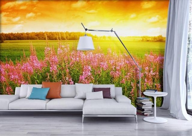 Fototapete 3d natur  HD Fototapete 3D Lebensechte pastoral blumen Wandbild natur ...