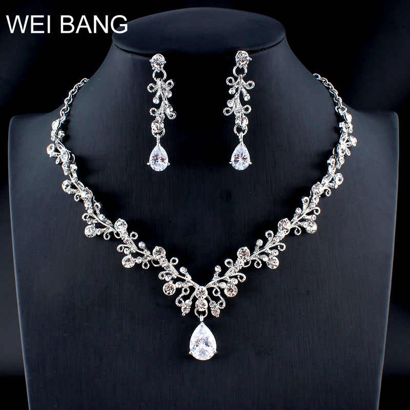 Flower Crystal Jewellery Set Bride