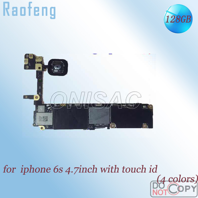 Raofeng iPhone with Touch-Id Mainboard 128GB for 6s Unlocked Chips Disassembled