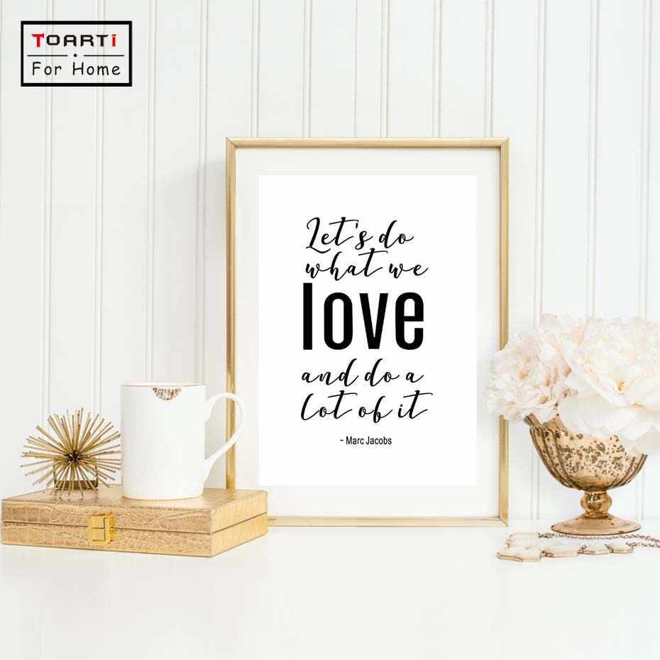 Minimalist Black White Love Inspirational Quote Prints Canvas Art Print Painting Poster Wall Decor Home Decor No Frame