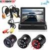 Koorinwoo HD 720P Drahtlose 2,4G Auto Parkplatz Rückfahr Kamera LCD Faltbare Monitor IR Lichter Lkw Rückansicht Kamera tailer Backup