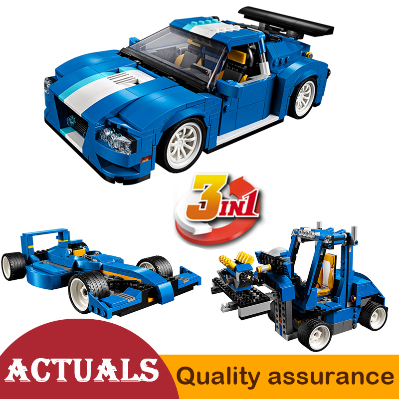 Creator 3 In 1 Turbo Track Racer Decool 3119 City Building Blocks