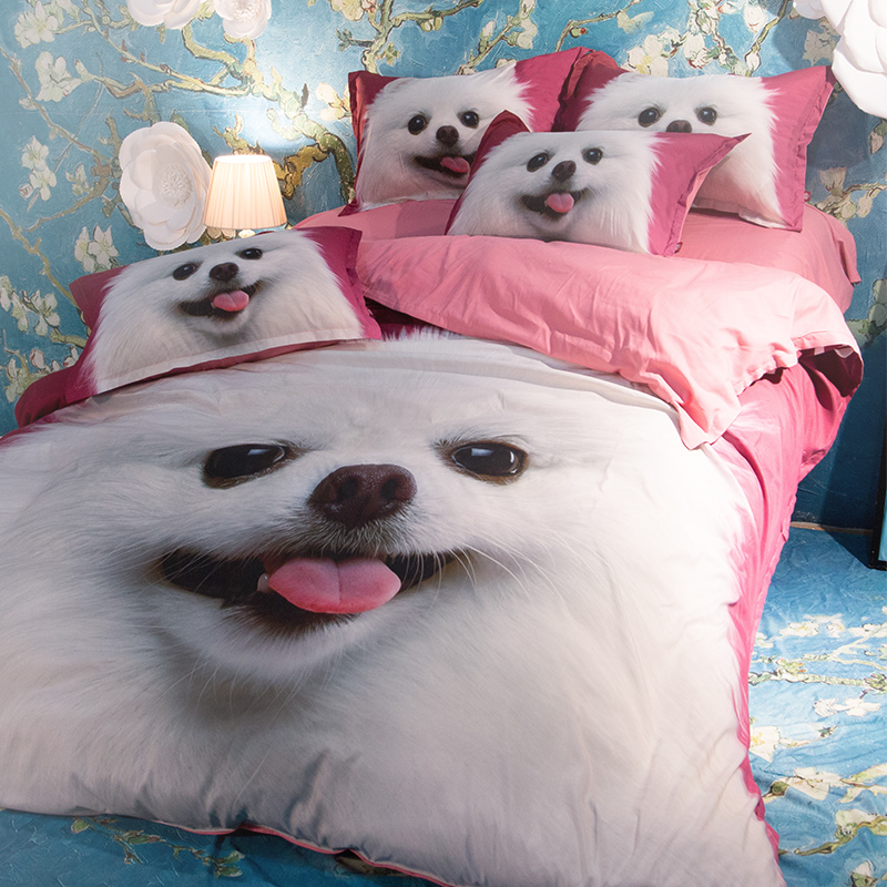 Cute Cat And Dog Print Bedding Set Twin Queen King Size Duvet Covers Bed  Sheets Modern Design Home Textile For Adults U0026 Children In Bedding Sets  From Home ...