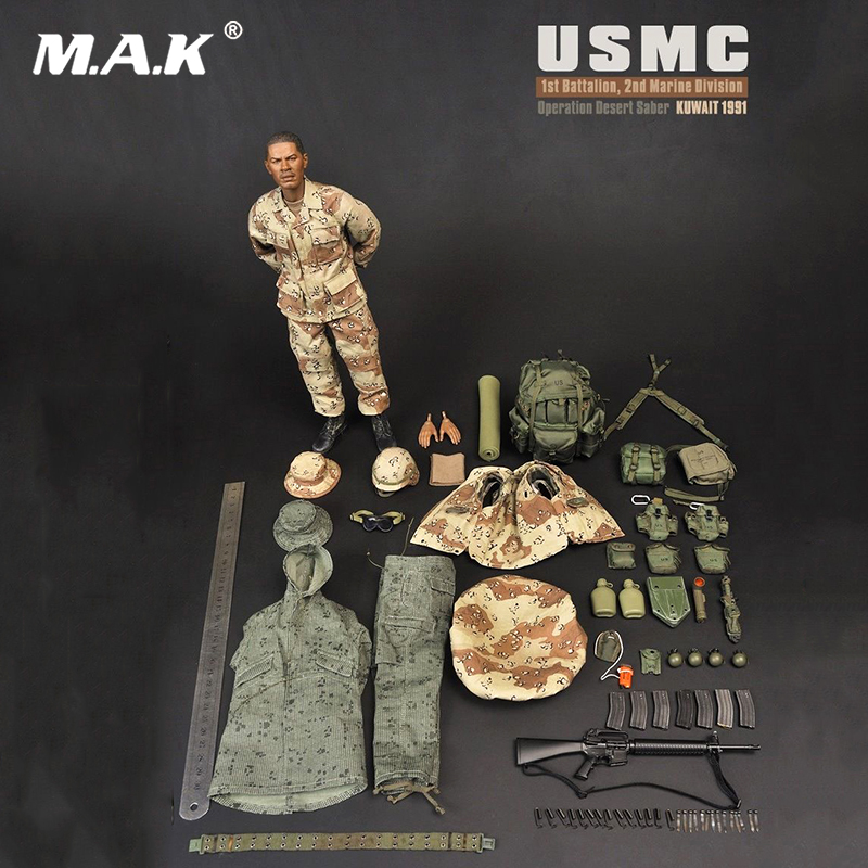 For Collection 1/6 Scale 1:6 SS071 USMC Desert Saber Operation Soldier Male Action Figure full Set military sodier doll figure 1 6 scale figure clothes for 12 action figure doll accessories usmc uniform for male figure doll and shoes not included