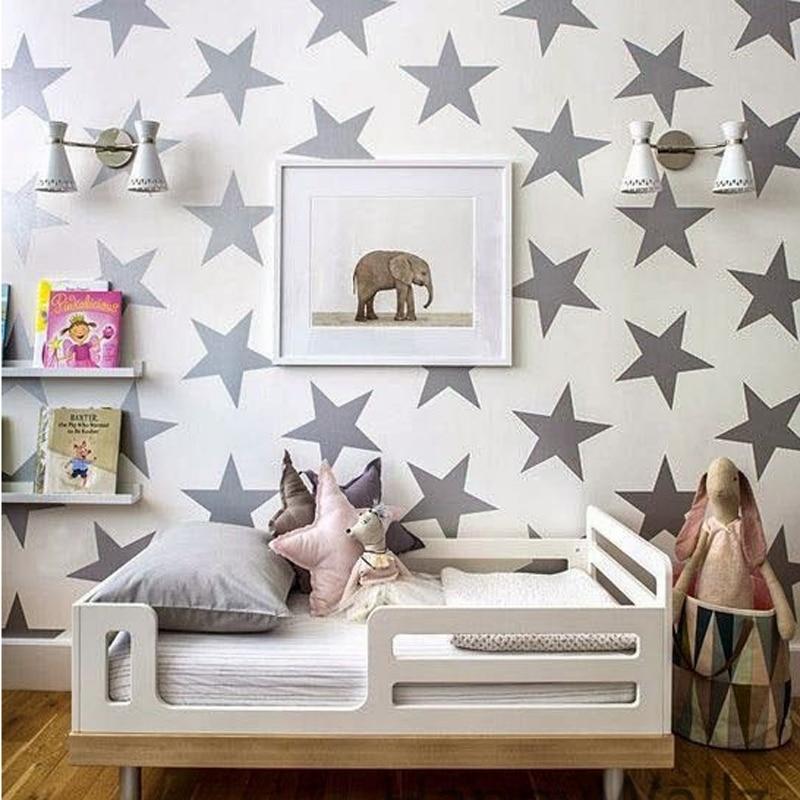 JJRUI Gold Stars Vinyl Wall Decal Αυτοκόλλητα Golden Star - Διακόσμηση σπιτιού