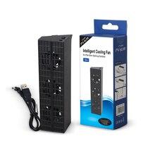 TECTINTER profesyonel Ultra ince soğutma fanı Ps4 Slim oyun konsolu sıcaklık kontrol fanı DC 5v siyah
