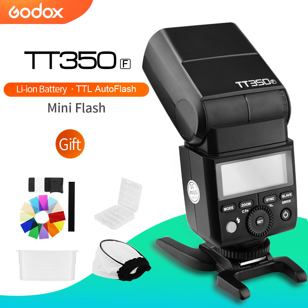 Godox Mini Speedlite TT350F for Fujifilm Camera Flash TTL HSS GN36 High Speed 1 8000S 2