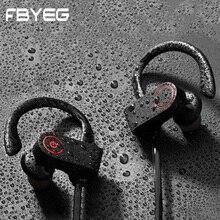 FBYEG K8 беспроводные наушники bluetooth наушник с зацепкой на ухо Спорт гарнитура шумоизолирующие наушники стерео наушник с басом для мобильного телефона