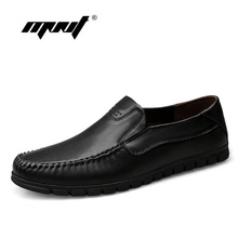 Breathable Cowhide Men Flats Shoes Full Leather Plus Size Fashion Shoes Men Loafers Moccasins Casual Men Shoes Zapatos Hombre