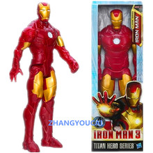 Movie Iron Man PVC Iron Man Action Figures Action Toy Figures Models 30CM Retail Box Free Shipping RETAIL BOX zy027