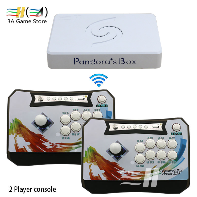 Pandora box 6 1300 in 1 wireless arcade game console set 2 Players controller console can add 3000 games 3d Tekken Mortal Kombat