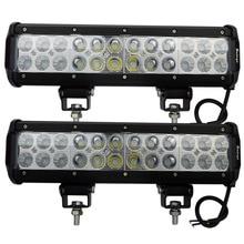 2pcs 12inch LED Bar 72W Cree LED Work Light Bar 4X4 Spot Flood Combo LED Off