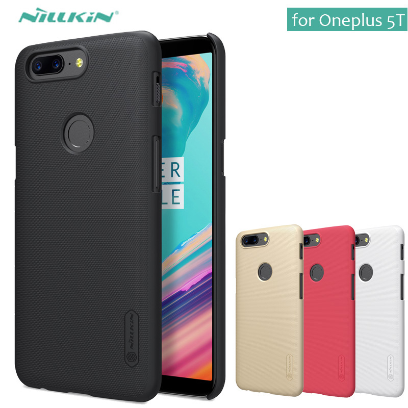 for Oneplus 5T Case Nillkin Super Frosted Shield Hard Back PC Cover Case for OnePlus 5 3 3T 2 5T Phone Case + Screen Protector