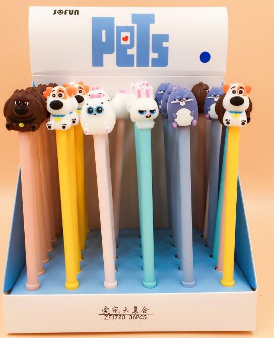 3 pcs/lot The Party of Pets Gel Ink Pen Promotional Gift Stationery School & Office Supply 6 pcs lot candy color highlighters gel pen promotional gift stationery school