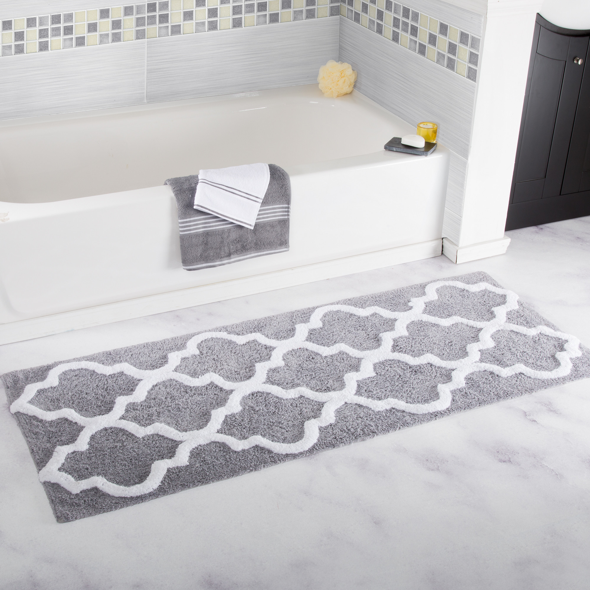 Us 18 84 52 Off 45x120cm Plush Bedroom Anti Slip Bath Mats Bathroom Floor Mat Toilet Water Absorption Outdoor Rug Picnic Carpet Home Decor In