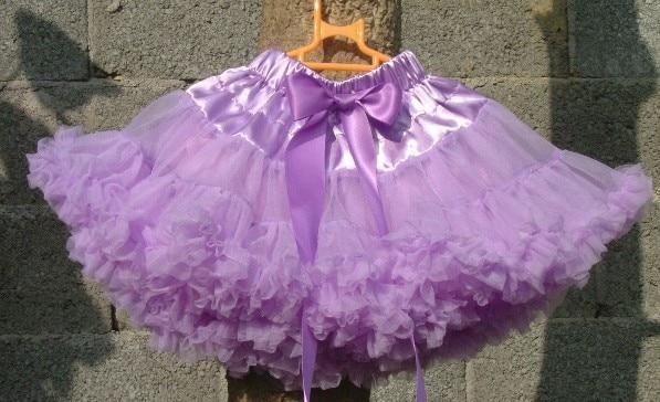 Юбка-американка для девочек Петти юбка-пачка для танцев желтый цвет пышная Мягкая юбка Юбка-пачка для девочек - Цвет: Lilac