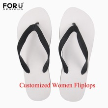 FORUDESIGNS Woman Summer Flip Flop Custom Your Image Name Print Diy Own Design Beach Flipflops Outdoor Sandals Slipper