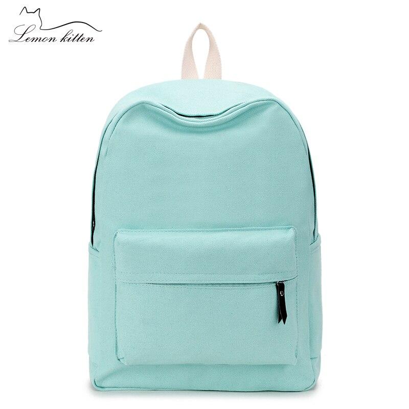 2019 leinwand Plain Japan Stil Minimalismus Beste Rucksack Für Jugendlichen Mädchen Weibliche Neue Reise Freizeit Frauen Rucksack Schulter Tasche
