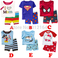 [Bosudhsou] Free Shipping New 100% Cotton Kids Baby Clothing 2pcs Set Toddler Baby Girl Boy Pajamas of the Children Pyjamas 248
