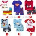 [Bosudhsou] o Envio gratuito de Nova 100% Algodão Crianças Roupas de Bebê 2 pcs Set Pijamas das Crianças Pijamas Da Criança Do Bebê Da Menina do Menino 248