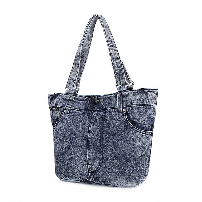 Fashion Hobos Women Bag Ladies Denim Handbags Spring Casual Tote Jeans Bag  Big Shoulder Bags For Women feminina bolsos mujer b4e6af288