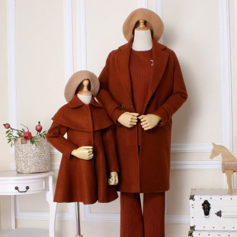 2018 New Fashion Children clothes women girls family look matching clothing mother daughter mom baby lady Caramel woolen coat 2018 brand new children clothes women girls family matching clothing family look mother daughter mom