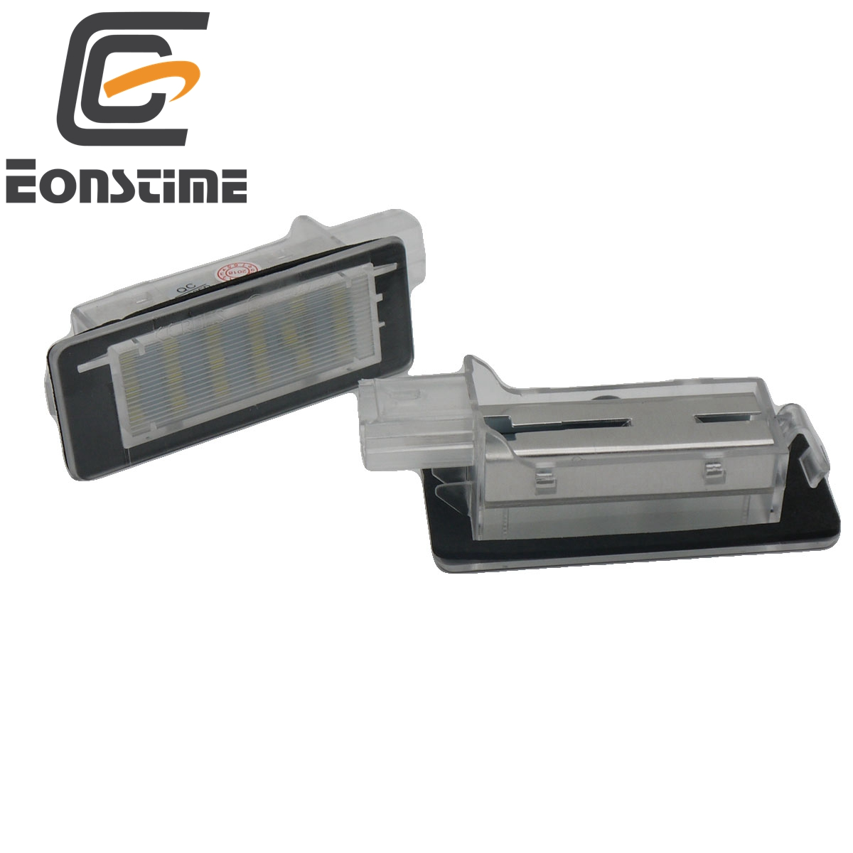 Eonstime 2x Free Error <font><b>LED</b></font> rear number plate lamp lights For <font><b>Renault</b></font> Clio Espace Fluence Laguna Latitude Grand <font><b>Modus</b></font> Zoe Scenic image