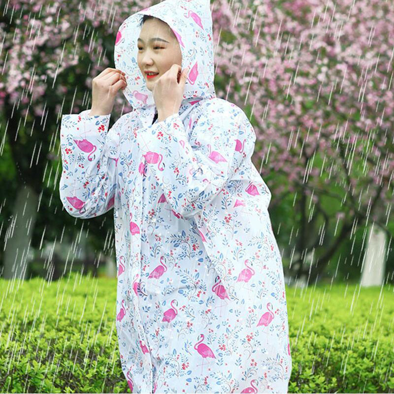 Fashion Girl Lady Raincoat Outdoor Travel Waterproof Riding Cloth Rain Coat For Women Poncho Long Rainwear Raincoat Jacket
